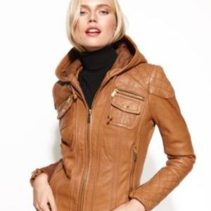 Michael Kors leather jacket with gorgeous details